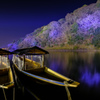 冬光に浮かぶ小舟