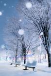 街角の冬景色