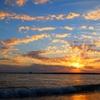 竜洋海洋公園の夕陽