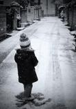 雪景色に惹かれて。