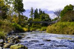大出の釣り橋