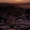 残雪 -棚田-