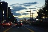 夕焼け車道
