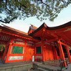 住吉神社、斜め45度