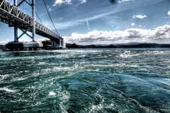 大鳴門橋と潮流