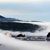 霧につつまれるウトロ
