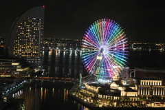 Rainbow color night