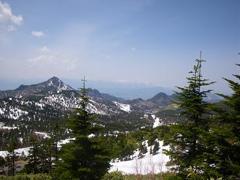 横手山から望む白馬連山