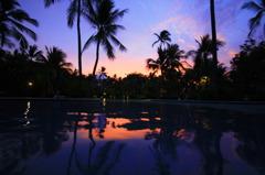 リゾートの夕焼け in バリ島