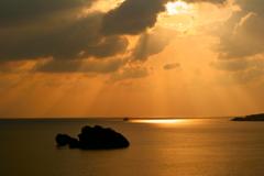 名護の夕日