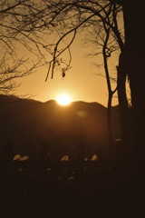 年末最後の夕陽