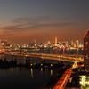 東京タワーを望む...