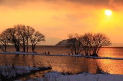 黄昏のびわ湖