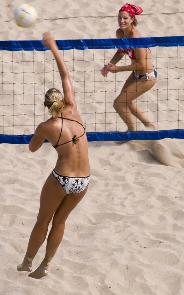 Beach Volleyball in Miami Beach