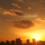 CANON Canon EOS 20Dで撮影した風景(いつかの朝焼け)の写真(画像)