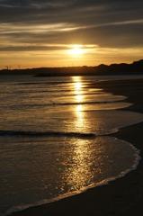 浜辺の残照