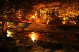 香嵐渓のライトアップ