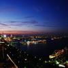 往く夏の夕景 横浜黄昏 FISH-EYE