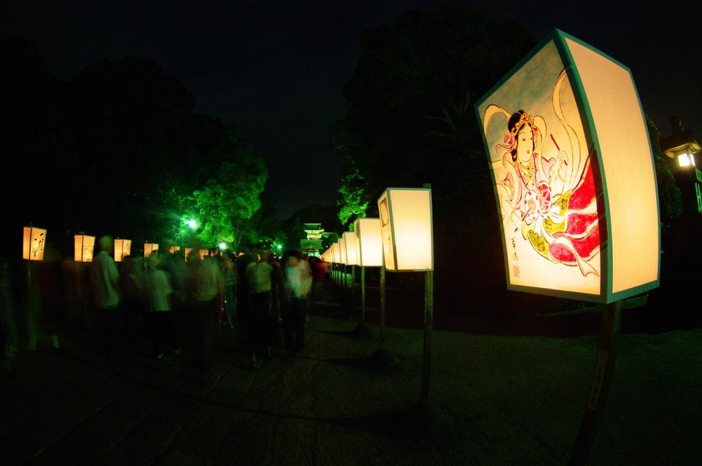 雪洞(ぼんぼり)祭り FISH-EYE