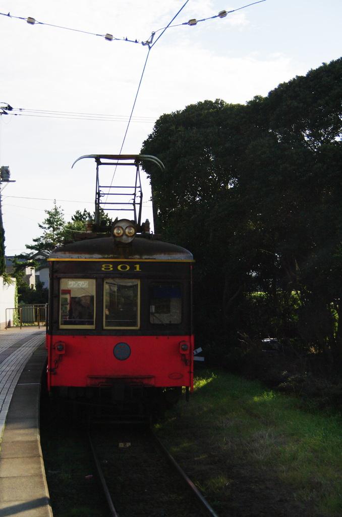 銚子電鉄犬吠駅にて