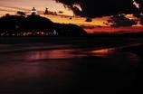 夕焼けの浜辺
