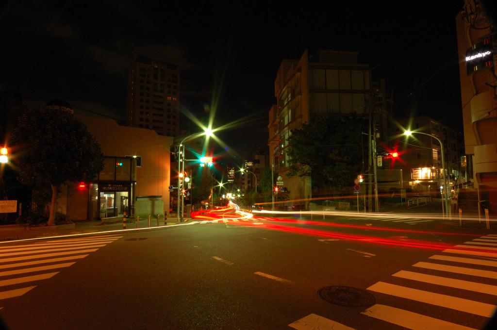 深夜・加計塚小学校前