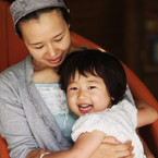 OLYMPUS E-3で撮影した人物(母娘)の写真(画像)