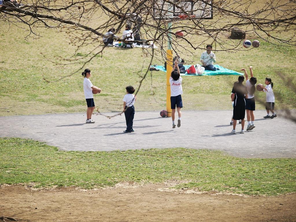公園でシュート!