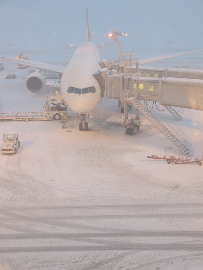 雪の千歳空港