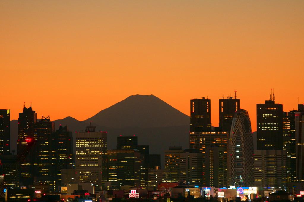 東京から見える富士