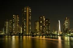 リバーシティ夜景