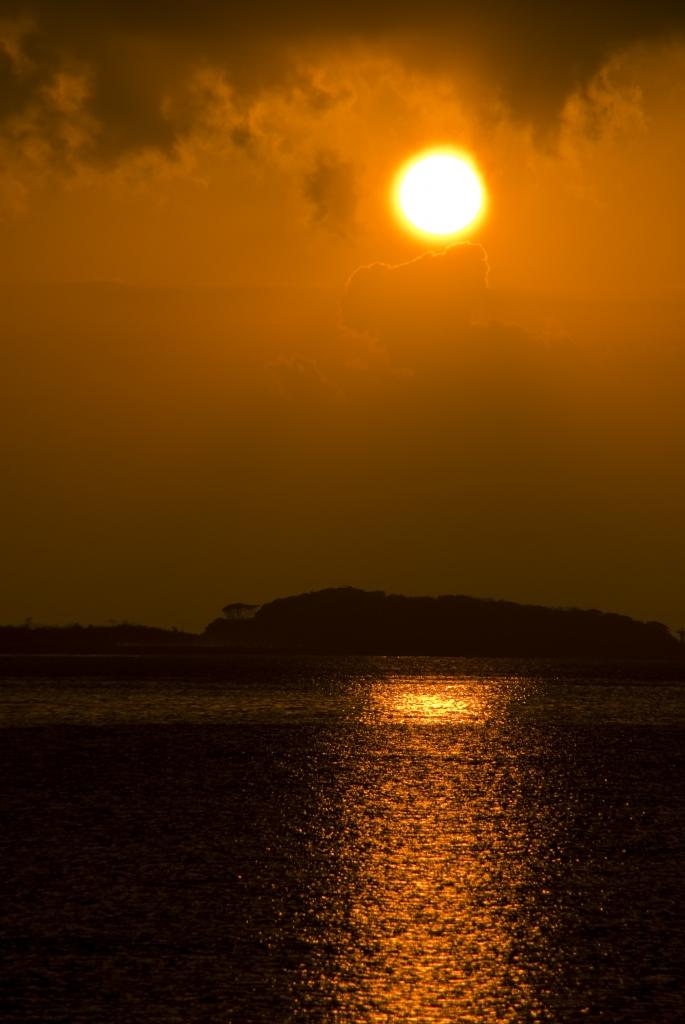 南総の夕日