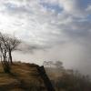 朝霧の山城跡
