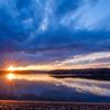 狭山湖の夕日 05