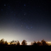 Stage of the autumn night sky