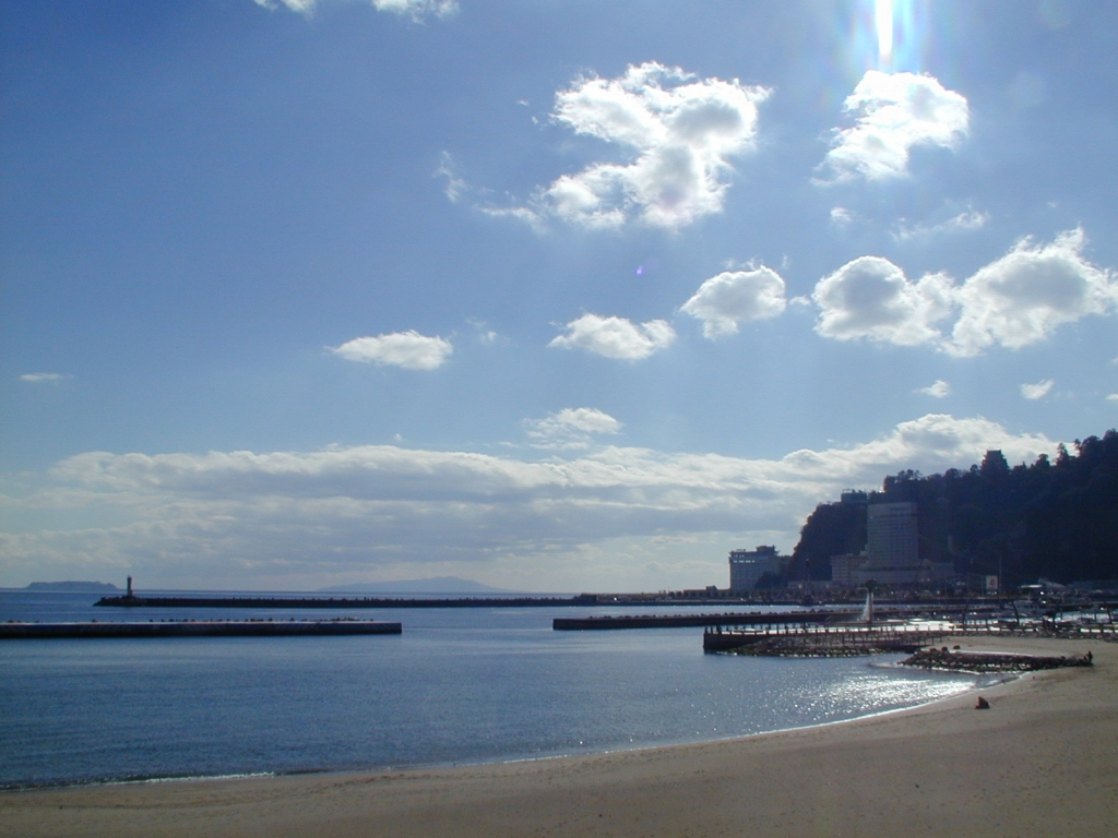 ある晴れた日の砂浜
