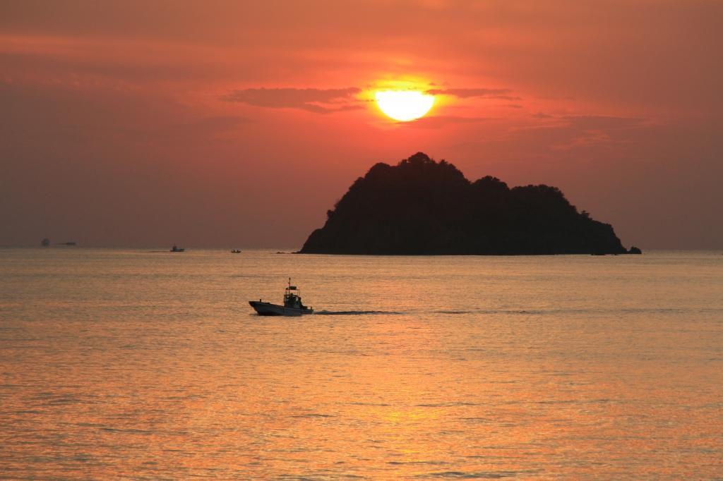 湯浅湾夕陽