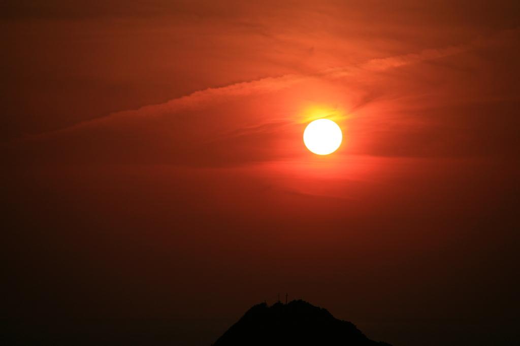 日の入り前