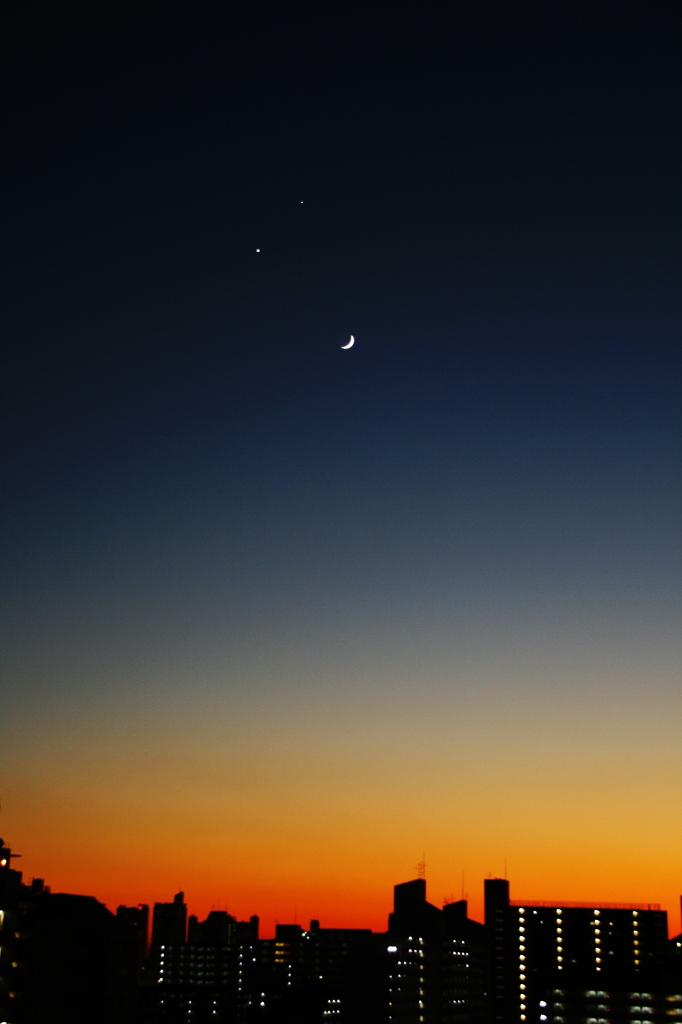 木星と金星と月が一番近くなる日