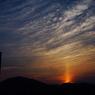 CANON Canon EOS Kiss Digital Xで撮影した風景(ゆうやけ 太陽柱?)の写真(画像)
