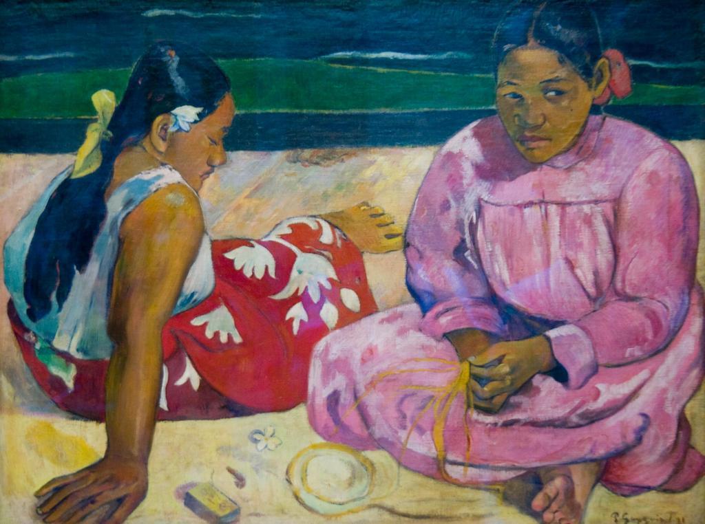 タヒチの女(浜辺にて) / ゴーギャン