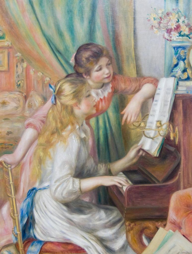 ピアノに寄る少女たち / ルノワール