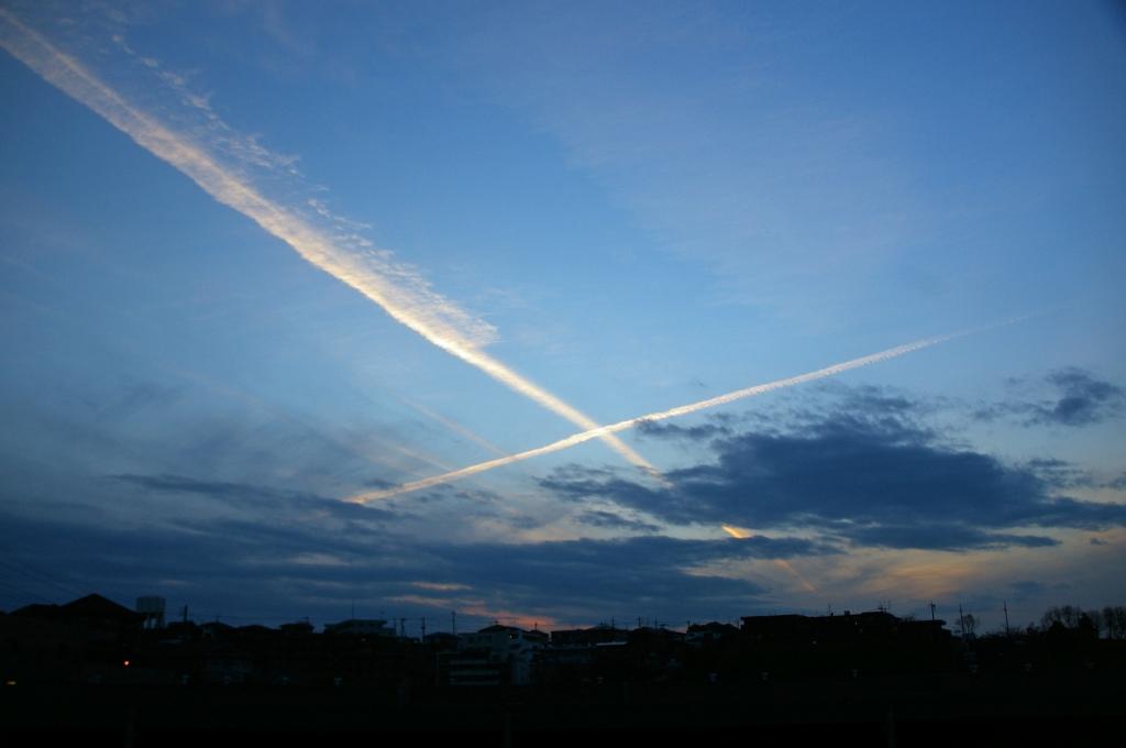 飛行機の軌跡