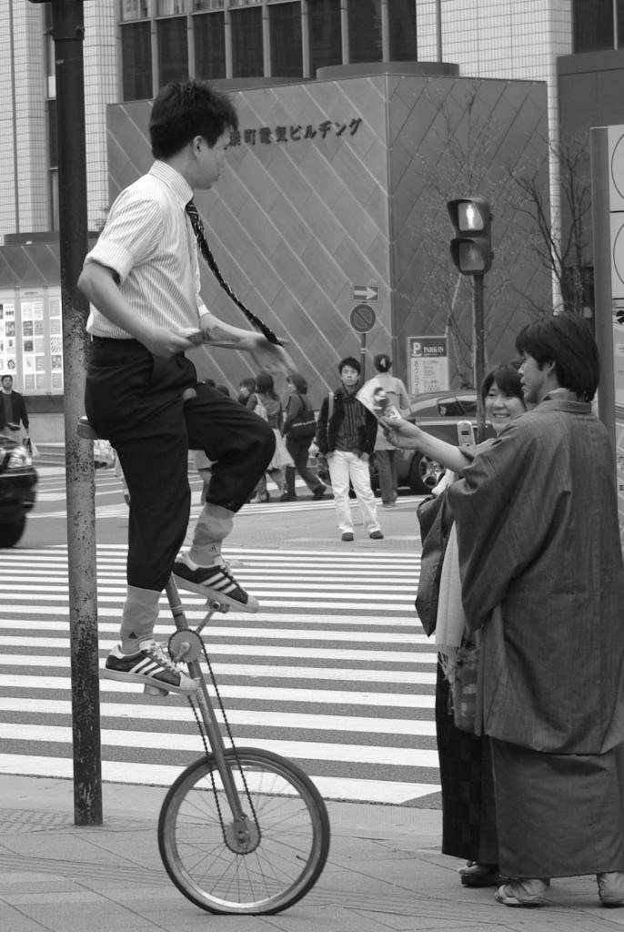 一輪車、有楽町