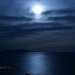 SONY DSLR-A700で撮影した風景(月明かり)の写真(画像)