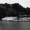 ボート避難中