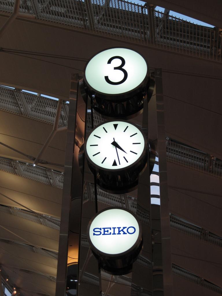 羽田空港第2ビルの時計