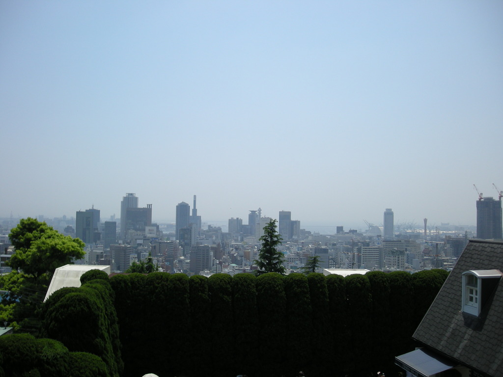 高台からの神戸市外一望