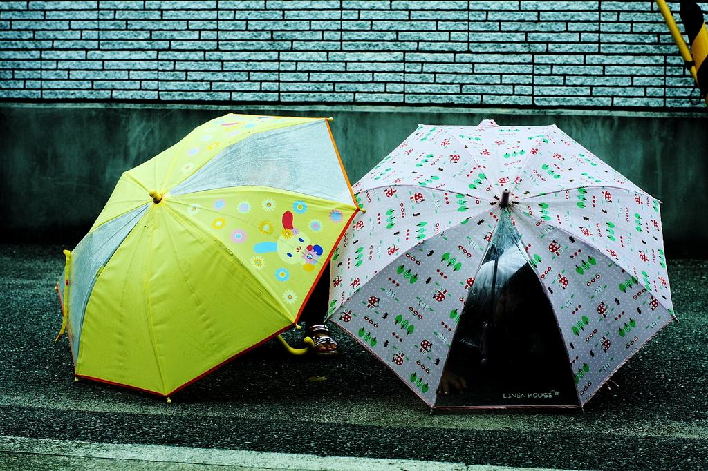open an umbrella
