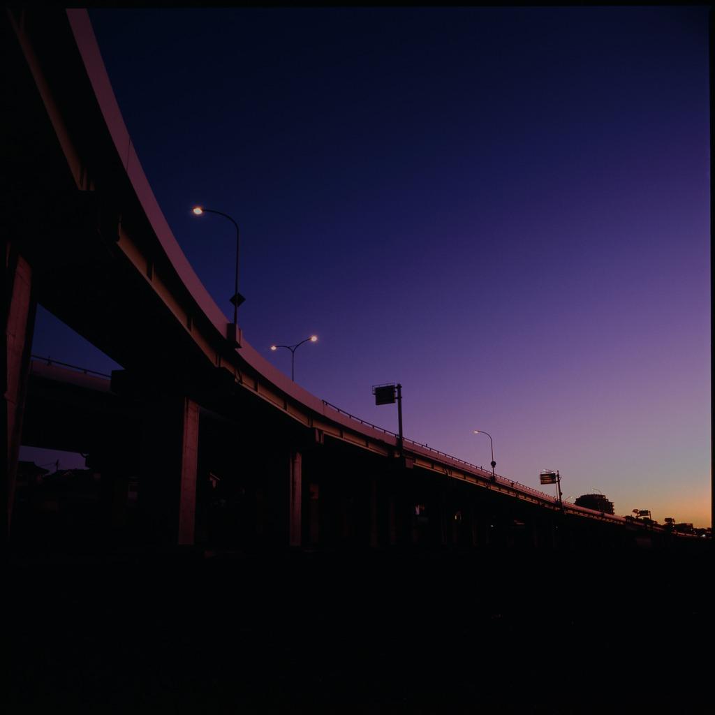 夜明けの西湘バイパス